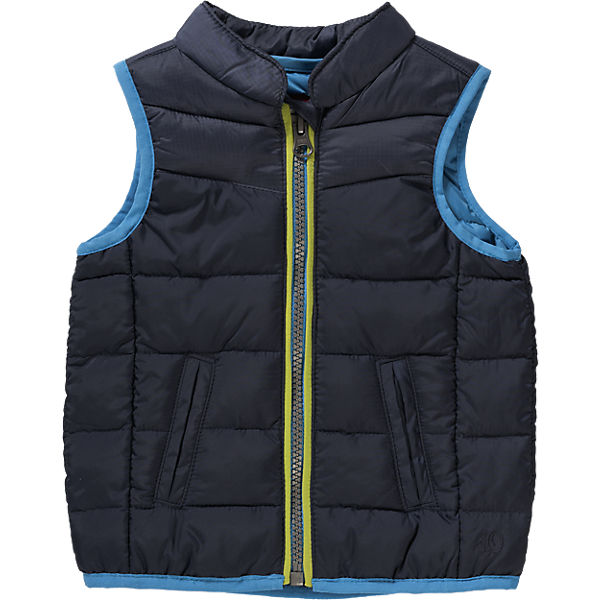 Cute Baby Quilted Vest for Boys blue