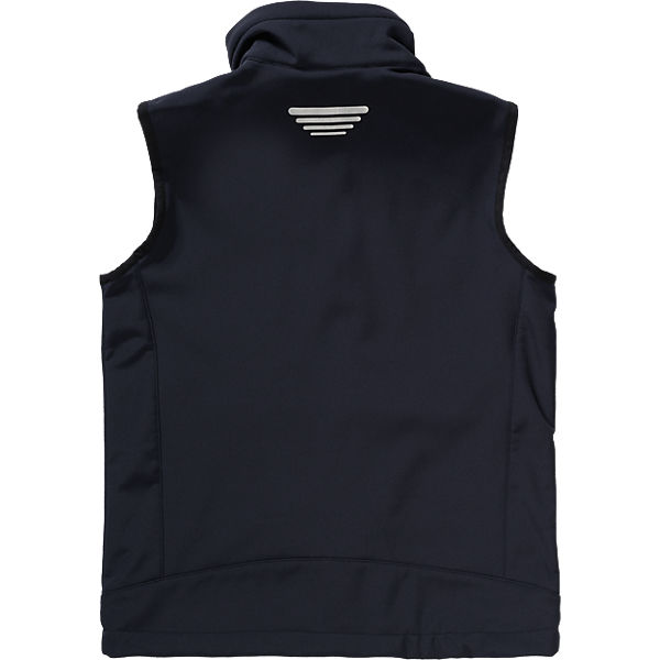 designer softshell vest for boys back