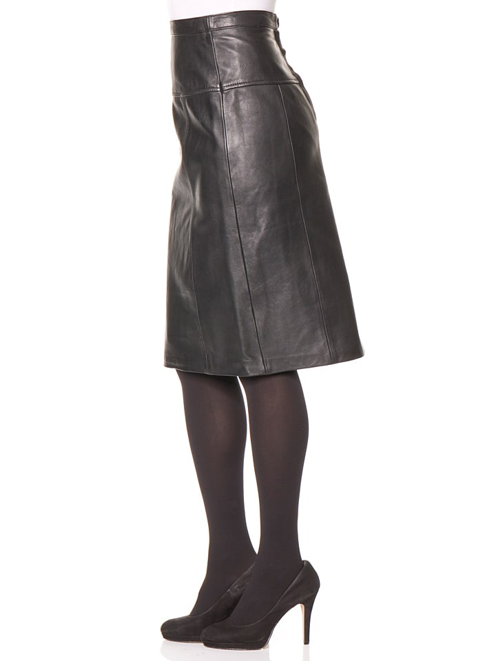 black leather skirt trendy womens clothing