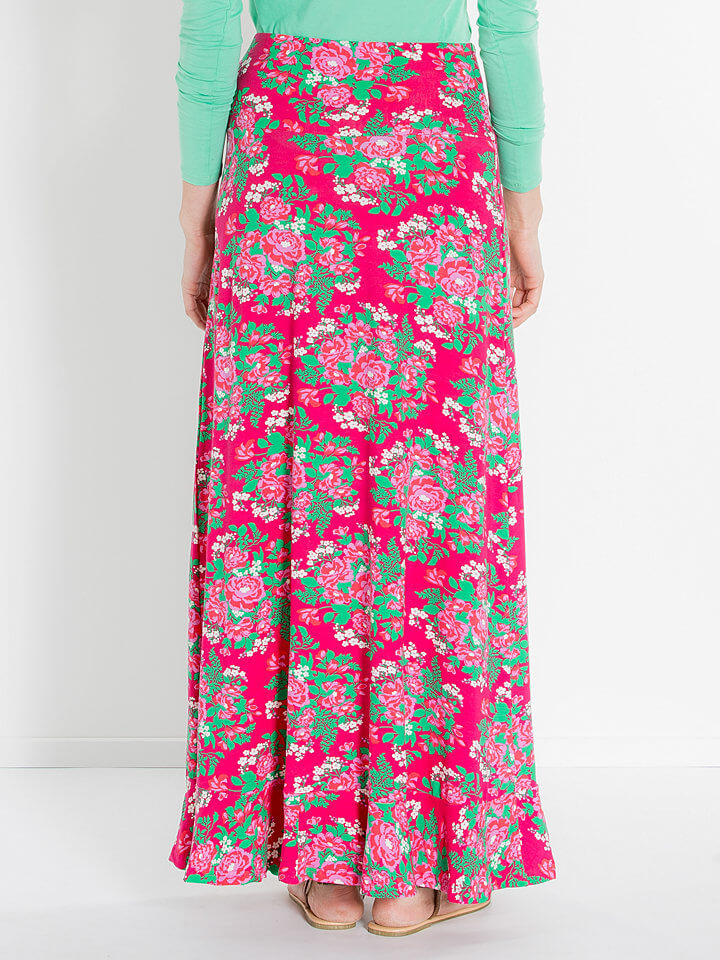 maxi skirts pink colorful long skirts for women