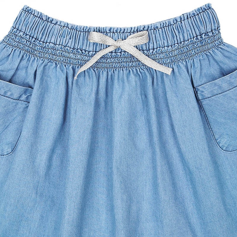 Girls A-line Jeans Skirt Short Childrens Trendy Clothes details
