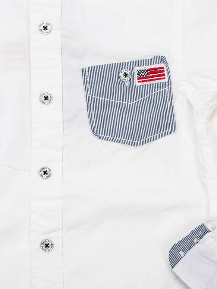 Kids Fashion Supplier White Shirt for Baby Boy Children's Clothing details