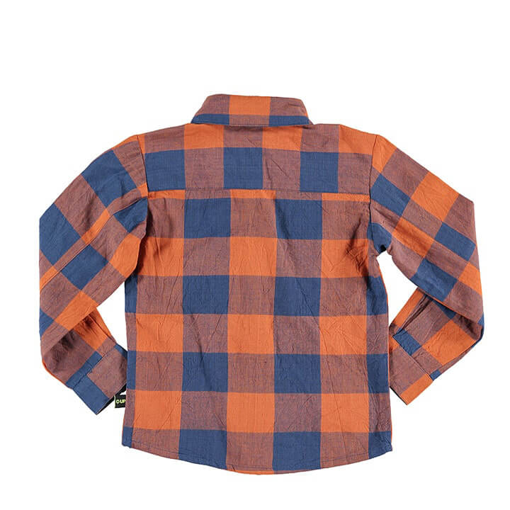 Kids Fashion Clothes Plaid Shirts for Boys Designer Kids Wear Back
