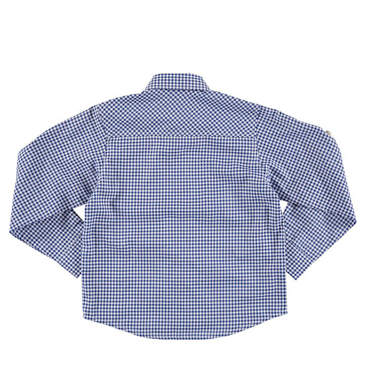 Baby Boy Dress Shirt in Blue/White Back