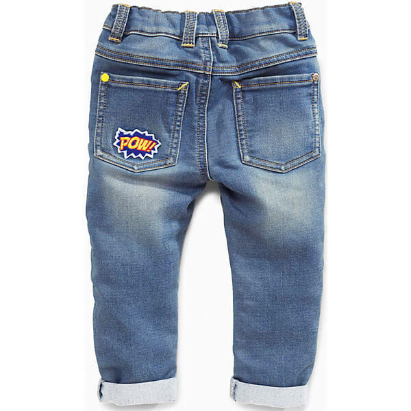 Children's Jeans with Elastic Waistband Jeans for Boys back