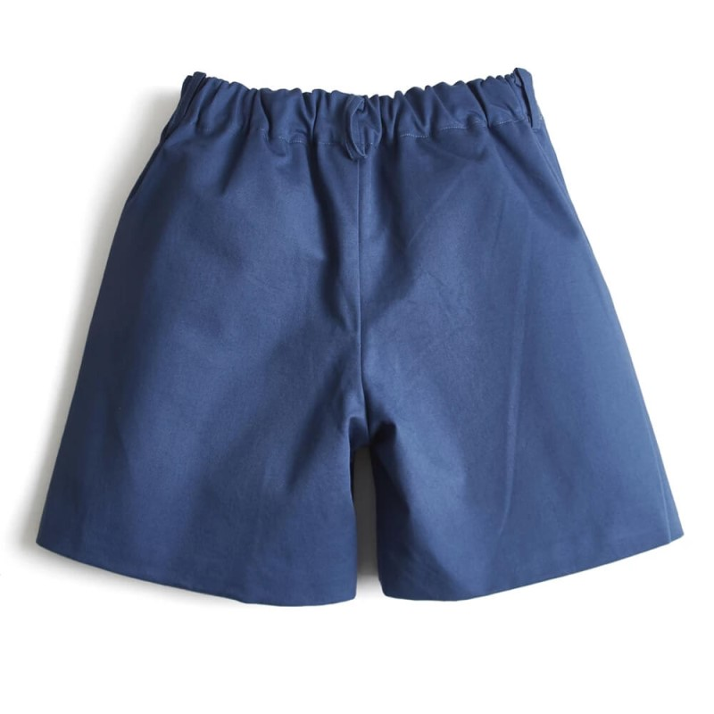 little boys blue shorts the back side
