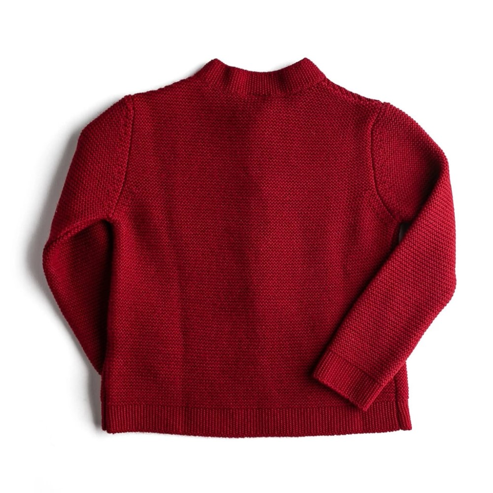boys knitted tops red back side
